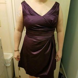 Plum David's Bridal Bridesmaid Dress